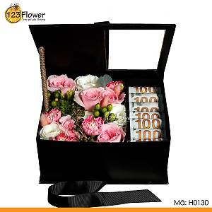 Hộp hoa 130