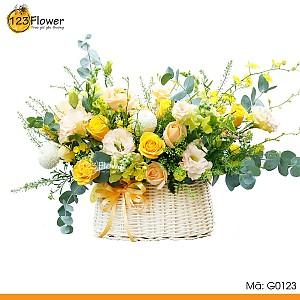 Giỏ hoa 123